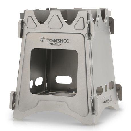 Походная титановая печь-щепочница (печка) Tomshoo Titanium. Титановая.