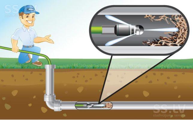 Экстренная прочистка канализации Промывка чистка труб Одесса Ильичевск
