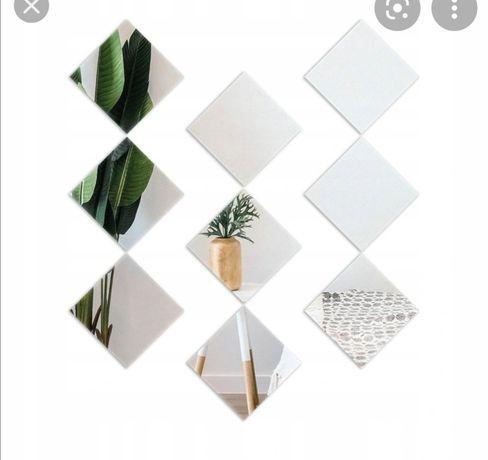 Lustro składające się z trójkątów i kwadratow
