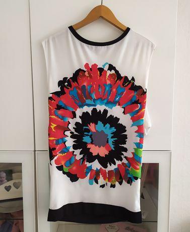 Bluzka ciążowa L biała koszulka 40 ubrania odzież tunika
