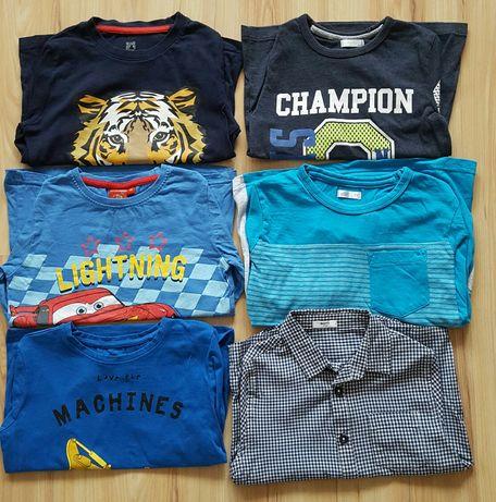 Koszulki i koszula na długi rękaw dla chłopca 110-116 cm