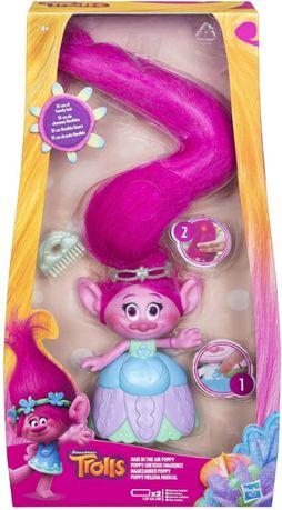 Тролли Музыкальная кукла Розочка Trolls DreamWorks Hair in The Air