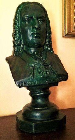 Busto Marquês de Pombal. 30cm de altura.