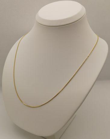 Nowy złoty łańcuszek. Splot lisi ogon. Złoto 14k/585. 50cm