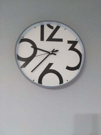 Zegar szary, okrągły, 30 cm