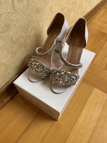 Bogato wysadzane buty ślubne KSIS r.36