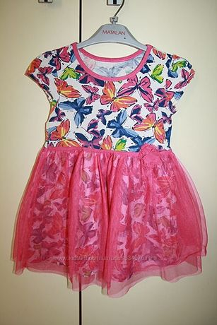 Красивое летнее платье Childrens place, на 3-5лет