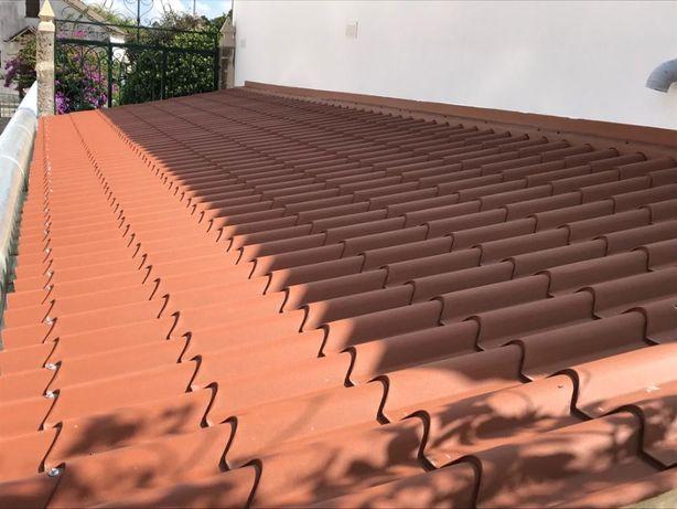 Painel imitação de telha lusa 40mm