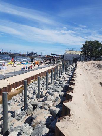 Umacnianie skarp nabrzeży opaski brzegowe prace hydrotechniczne