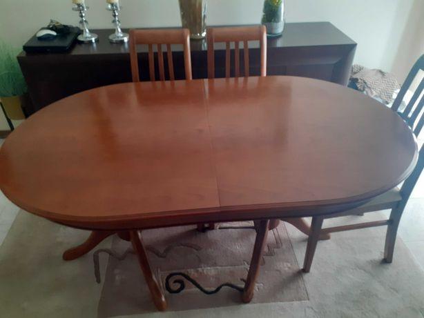 Mesa de sala em madeira maciça