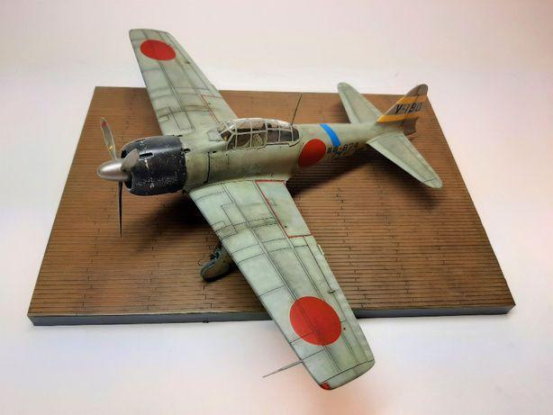 Mitsubishi Zero - Tamiya - 1:48 - sklejony model, gotowy, podstawka