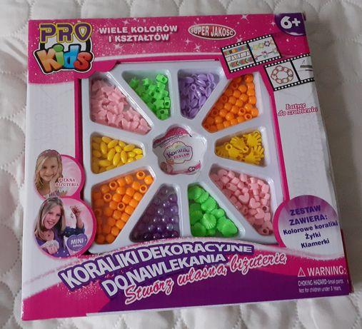 Nowa zabawka nowe koraliki dekoracyjne do nawlekania Pro Kids 6+