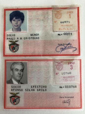 Bilhetes cartao Socio BENFICA
