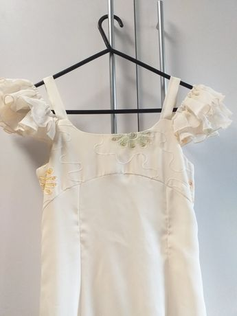Sukienka  dla dziewczynki z bolerkiem ecru