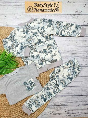 BOMBERKA DLA DZIECKA - Dres bluza rozpinana spodnie HANDMADE Babystyle
