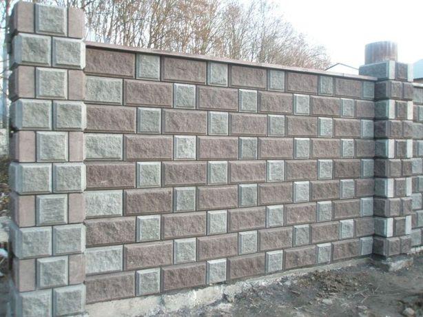 Блок колотий Блок заборный Рваний камень Забор декоративный Скала