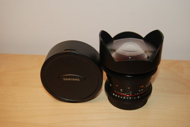 Obiektyw Fish Eye Samyang 14mm T3.1 V-DSLR ED AS IF UMC II Canon, EOS