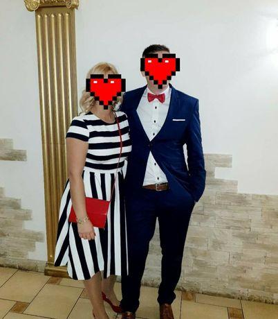 Sukienka w paski Reserved rozm. M -38, wesele