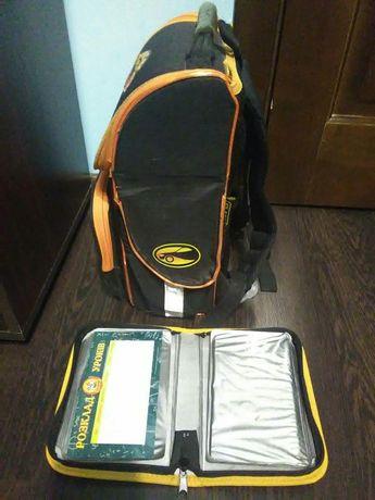 Рюкзак ортопедический на каркасе и в подарок пенал в цвет рюкзака