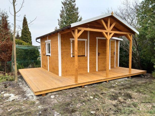 Domek ogrodowy z pomieszczeniem gospodarczym