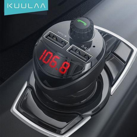 Фм Fm модулятор трансмиттер Bluetooth KUULAA, FLOVEME автозарядка