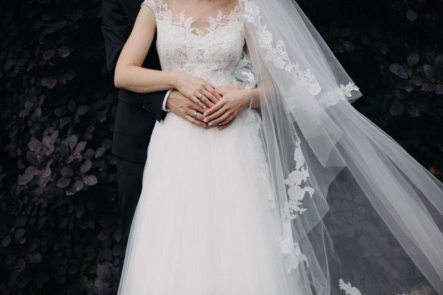 ANNA KARA Marcie suknia ślubna jedyna taka r. 34 + welon Pronovias