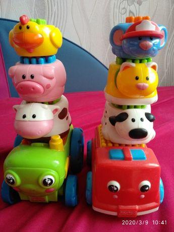 Pojazdy ze zwierzętami Fischer Price