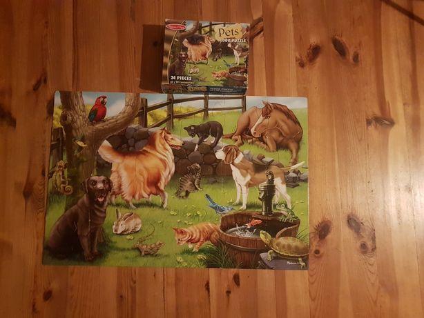 Duze puzzle 24 elementy