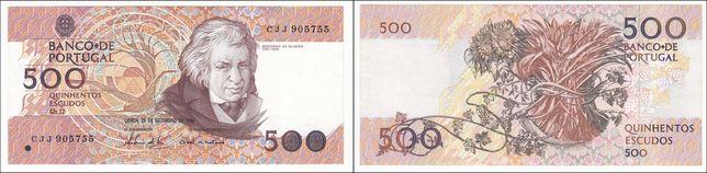 Notas de Portugal e Brasil - 20, 50, 100 e 500$00 + Cruzeiros
