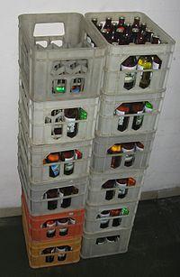Ящик для стеклянных бутылок