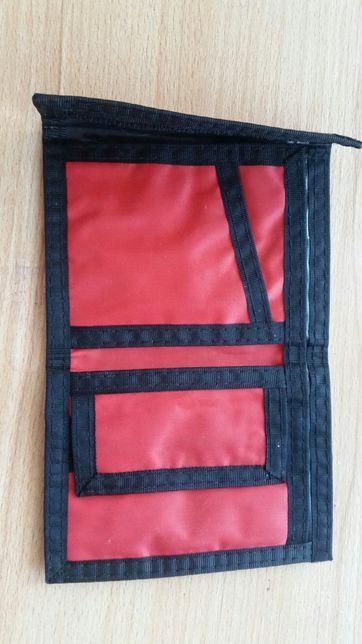 Portfel czerwony czarny sportowy damski męski dziecięcy