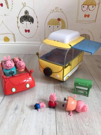 Świnka Pepa Kamper i Samochód