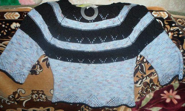 Нарядный вязанный свитерок, кофта