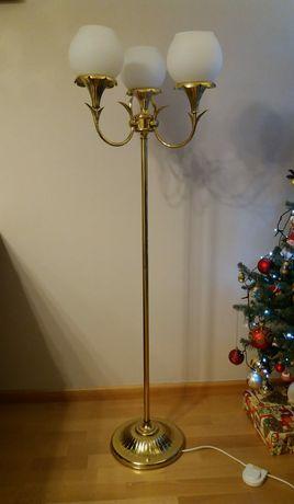 Lampa stojąca złota