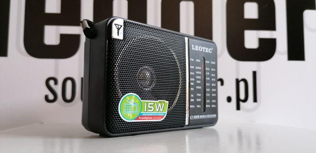 Radio turystyczne wielozakresowe na baterie zasilacz ant teleskopowa