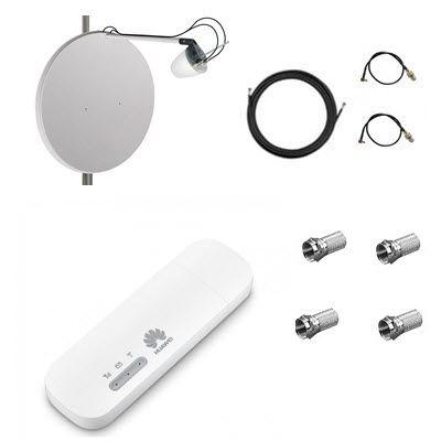 Комплект для 4G/3G интернета (антенна+роутер+кабель+переходники)