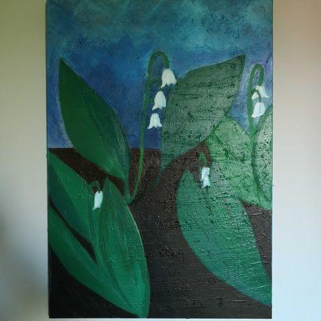Obraz Kwiaty leśne, konwalie