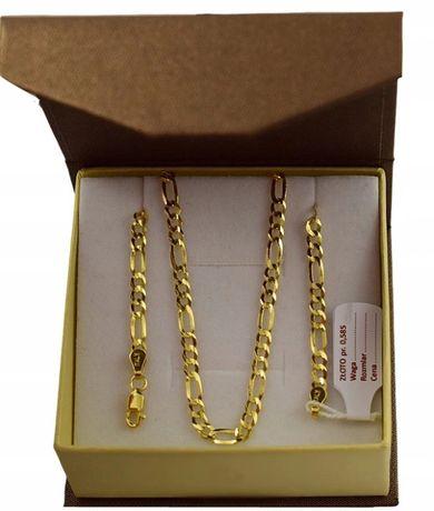 Złoty Łańcuszek FIGARO Pełny/ pr. 585 + GRAWER