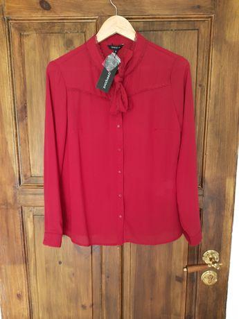 Nowa z metką bordowa bluzka koszulowa Greenpoint 36