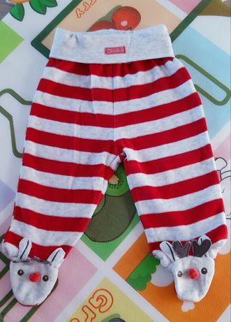 Półśpiochy niemowlęce welurowe 68 74