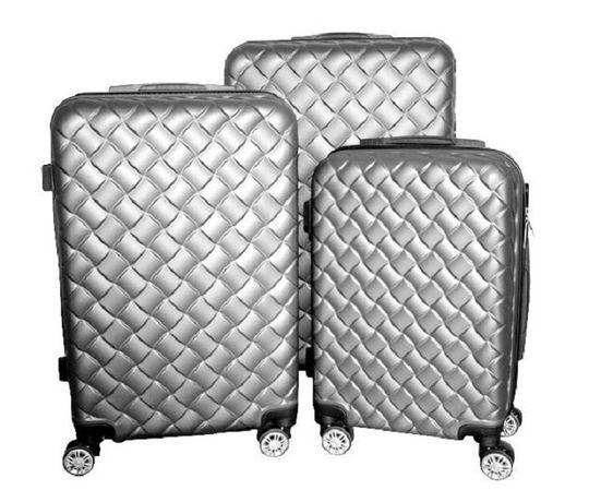 Zestaw walizek set walizki podróżne mulano srebrne M L XL 1409