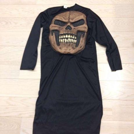 Sukienka, strój przebranie karnawałowe druida ,kostuchy. Czarownika.