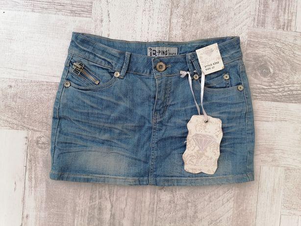 Spódnica jeansowa nowa mini r. 27