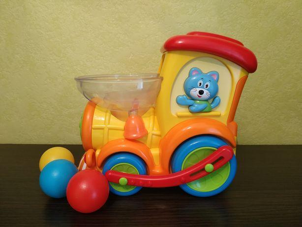 Музыкальный паровозик Huile Toys