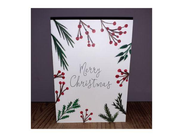 Kartka świąteczna własnoręcznie robiona