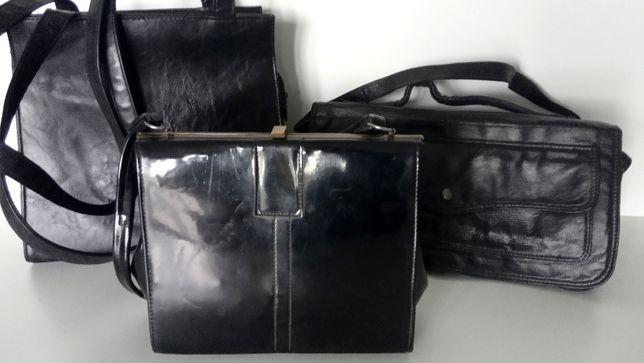 Torebka torebki retro 2 szt. czarne z PRL