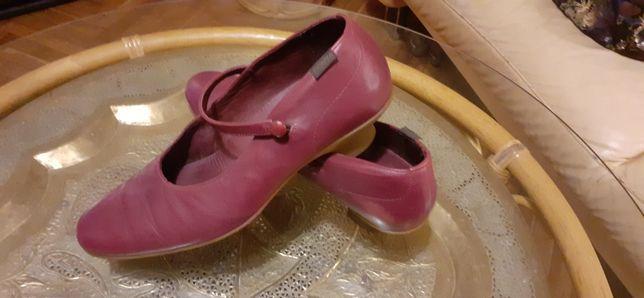 Cudowne bordowe pantofle Camper na kaczuszce obcas 2cm r. 39
