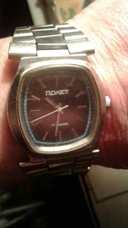 Часы Полёт СССР хромированный корпус Нержавеющий оригинальный Браслет