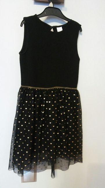 Czarna sukienka roz. 128
