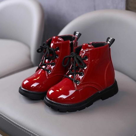 Лаковые Детские ботинки на девочку Девочек обувь детская для девочки
